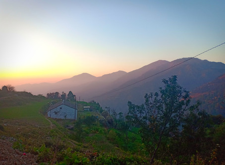 Sunset at Pangot, Nainital Camp