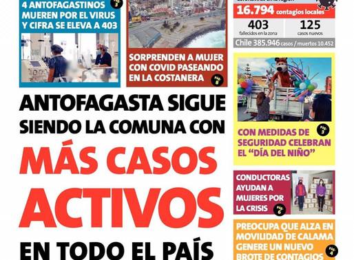 TITULARES LUNES 17, DE LOS PRINCIPALES DIARIOS DE LA REGIÓN