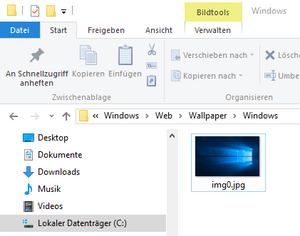 Hintergrundbild einfugen windows 10
