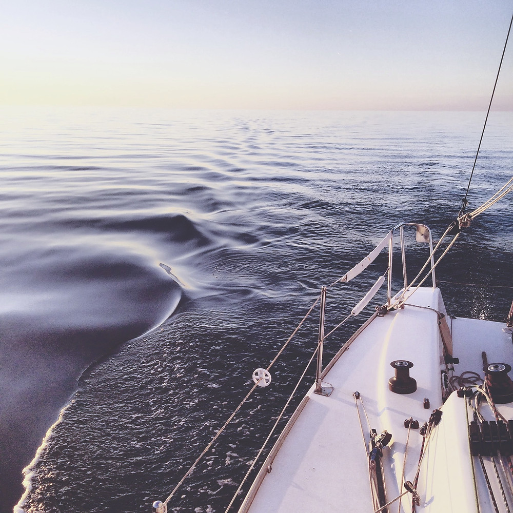 a sailboat in the ocean