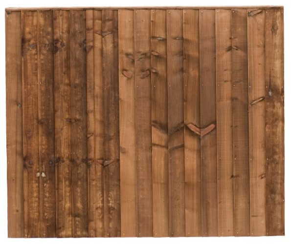 Brown close board panel
