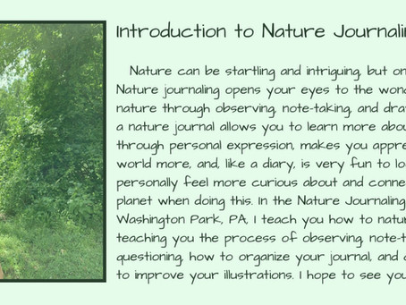 keeping a nature journal.