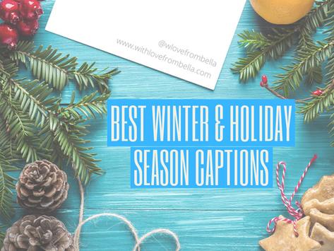 Best Winter & Holiday Season Captions