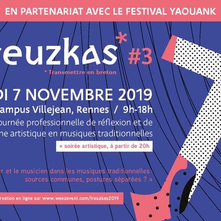 Treuzkas : rendez-vous le jeudi 7 novembre 2019