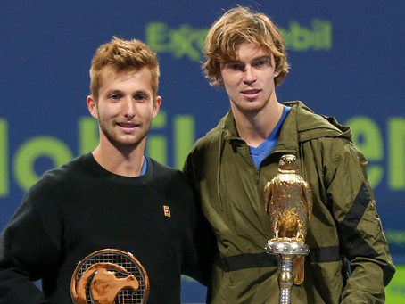 RUBLEV (RUS) WINS 3RD TITLE IN DOHA