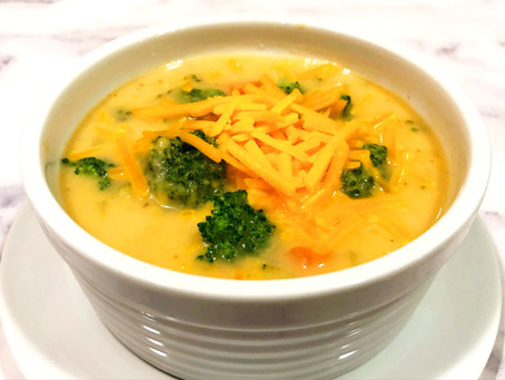 Healthier Broccoli and Cheese Soup