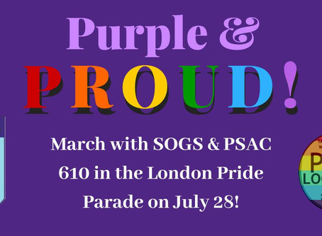 March with PSAC 610 and SOGS at Pride!