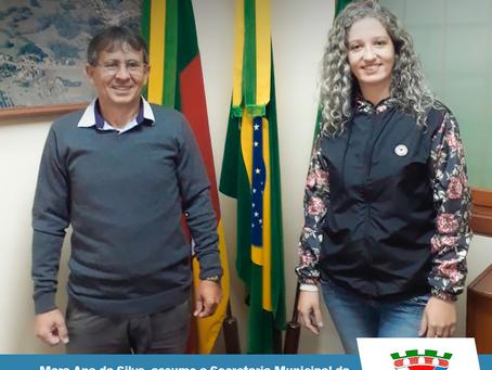 Mara Ana da Silva, assume a Secretaria Municipal da Agricultura, Meio Ambiente, Indústria e Comércio