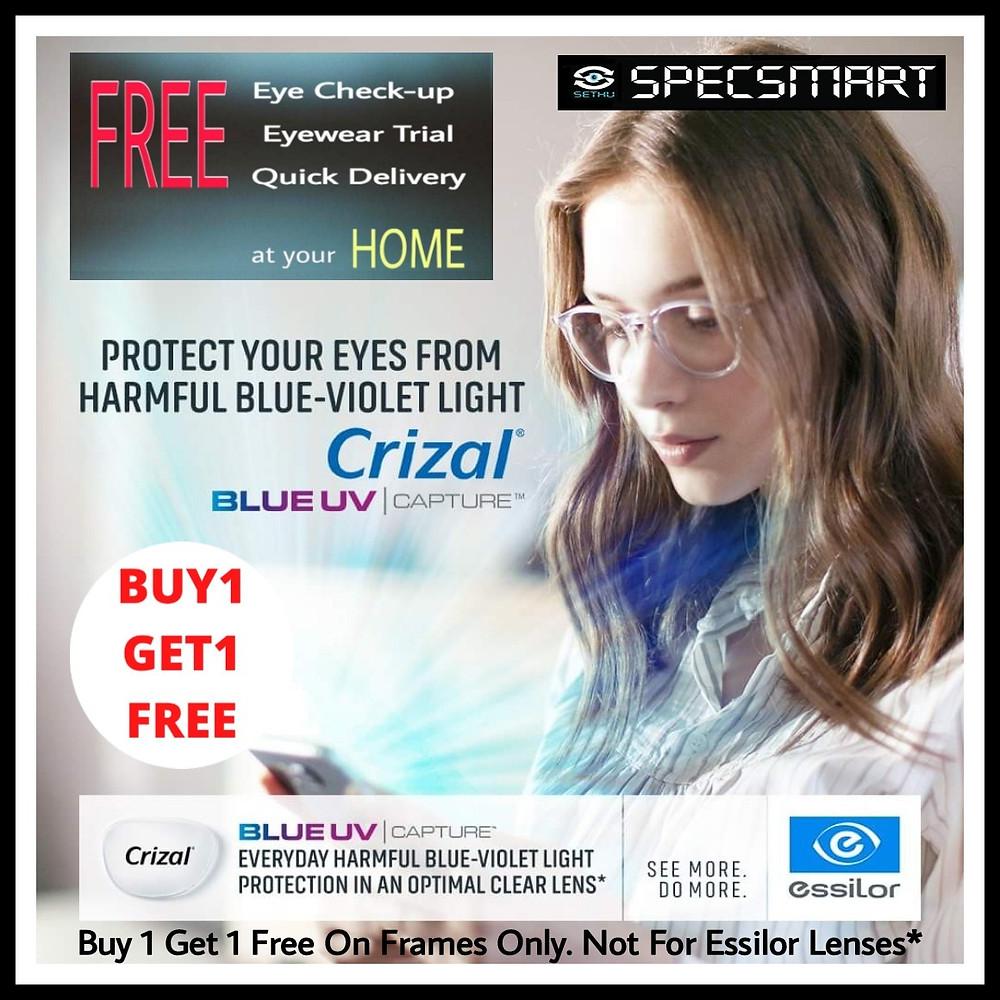 Crizal BLUEUV capture