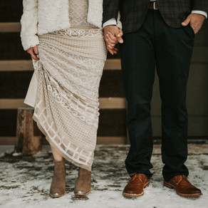 Dalia and Tom: Snowy Bohemian Elopement at Savage River Lodge