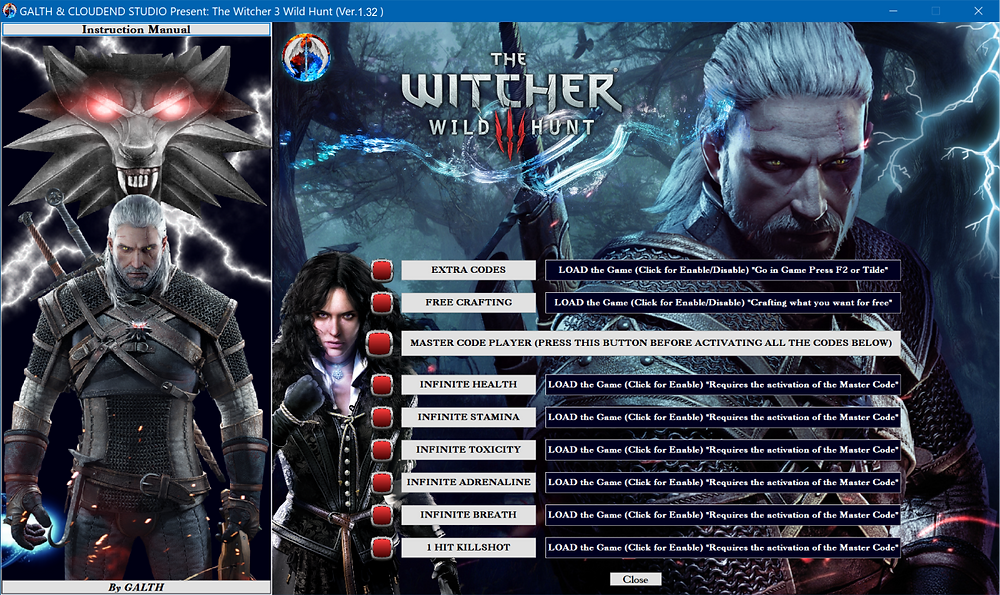 The Witcher 3 Wild Hunt, cloudend studio, galth, Cd Projekt Red, cheat, trainer, code, steam, pc, youtube, google, facebook, cheat engine, cheat table, gameplay, game, dlc, unlock, 100%, tricks, engaños, トリック, 騙します, Cheat Happens, betrügen, 06/11/2018