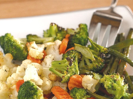 Roasted Carrots, Broccoli and Green Beans