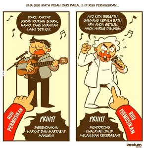 ilustrasi kontroversi RUU Permusikan