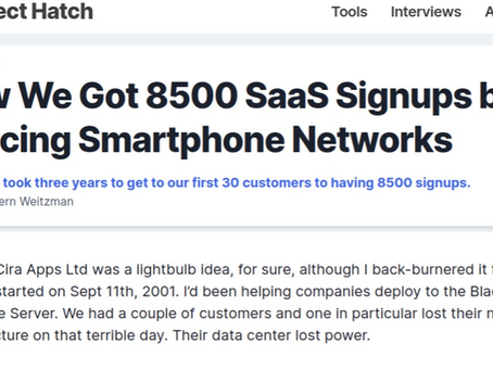 Project Hatch. The SaaS company was made for the cloud, says Cira Apps