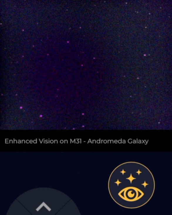The Andromeda Galaxy through the EVscope