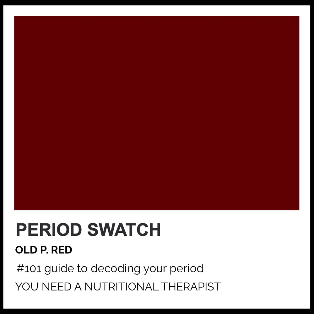 Period-Pantone Old P. Red by Hormone Specialist Kay Ali