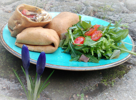 Krokiety z serem, pieczarkami i papryką