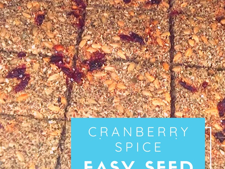 Cranberry Spice Seed Crackers
