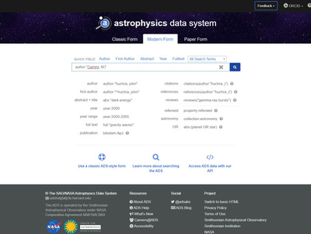 View my contribute on SAO/NASA Astrophysics Data System