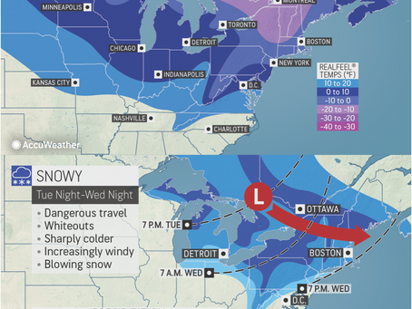 ACCUWEATHER METEOROLOGISTS PROVIDE UPDATE ON LAKE EFFECT SNOW AND COLD TEMPERATURES HEADING TO NORTH