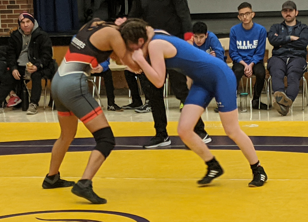 female wrestlers compete at wrestling tournament