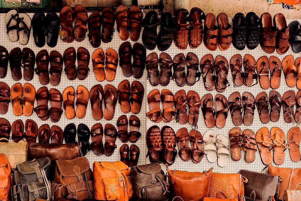 leather sandal shop