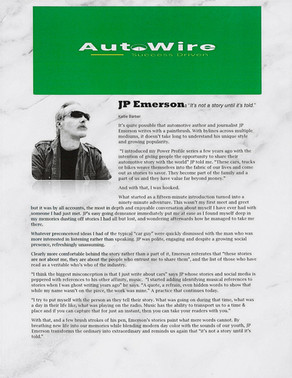 One on One with Award winning Automotive Author JP Emerson