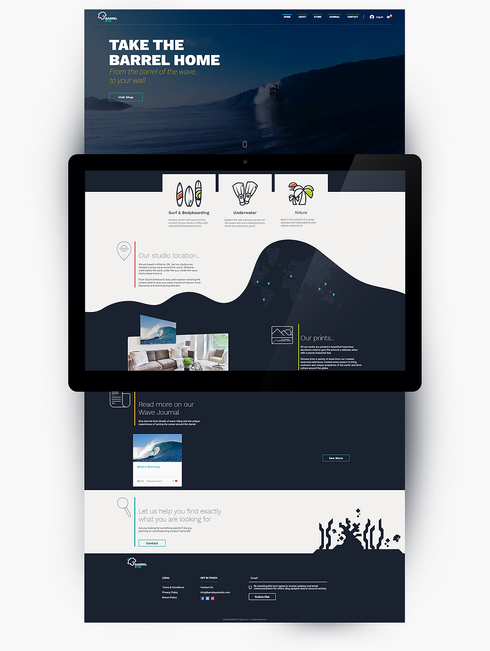 dieresis, logo, branding agency, graphic design studio, web design, icon, iconography, branding, brand identity, design, brand consulting, graphic design, barreleye, studio, surfing, scuba, ocean, waves