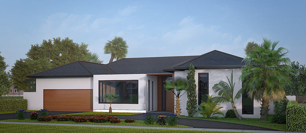sample 3d exterior rendering