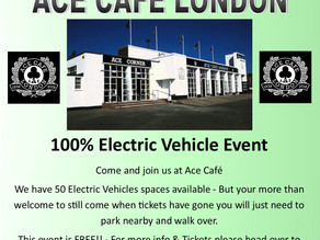 EVs In The Car Park @ ACE Cafe London