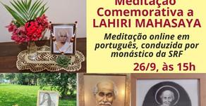 Meditação Especial para Lahiri Mahasaya (26/9)
