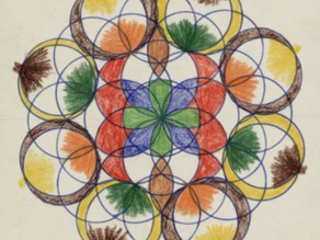 Mandala drawing by Anne Frank (1941)