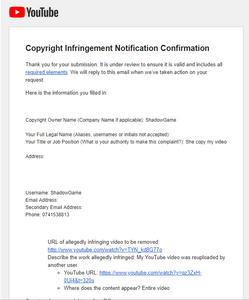 I send Copyright STRIKE for Scam