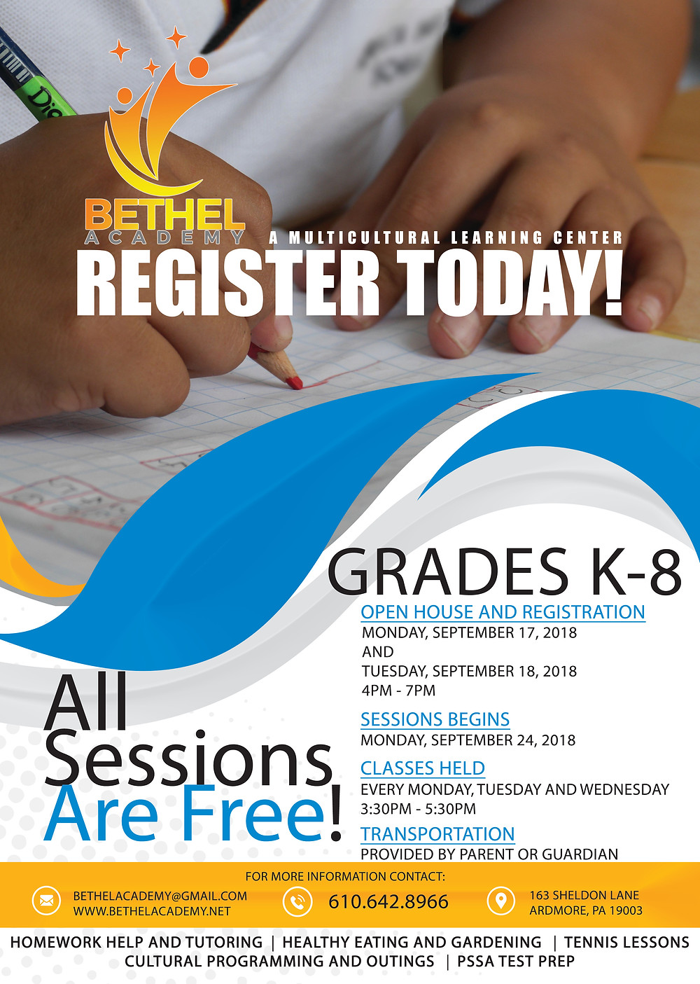 Register Today for Bethel Academy