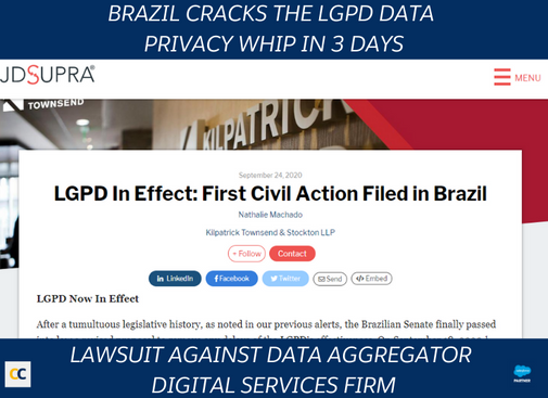 Lawsuit against data aggregator digital services firm in Brazil