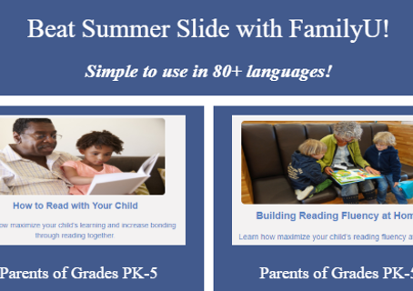 Beat Summer Slide with FamilyU!