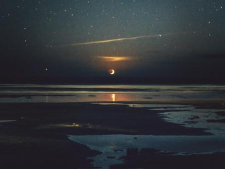 Moonset in Manzanita-Oregon Coast