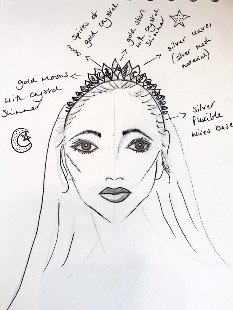 UK wedding accessory design. Bespoke bridal crown. Wedding accessory designer Cheshire.
