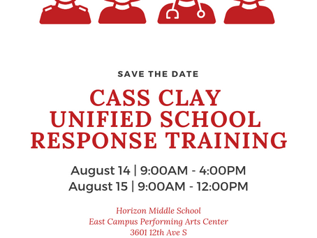 Cass Clay Unified School Response - Summer 2019 Training!