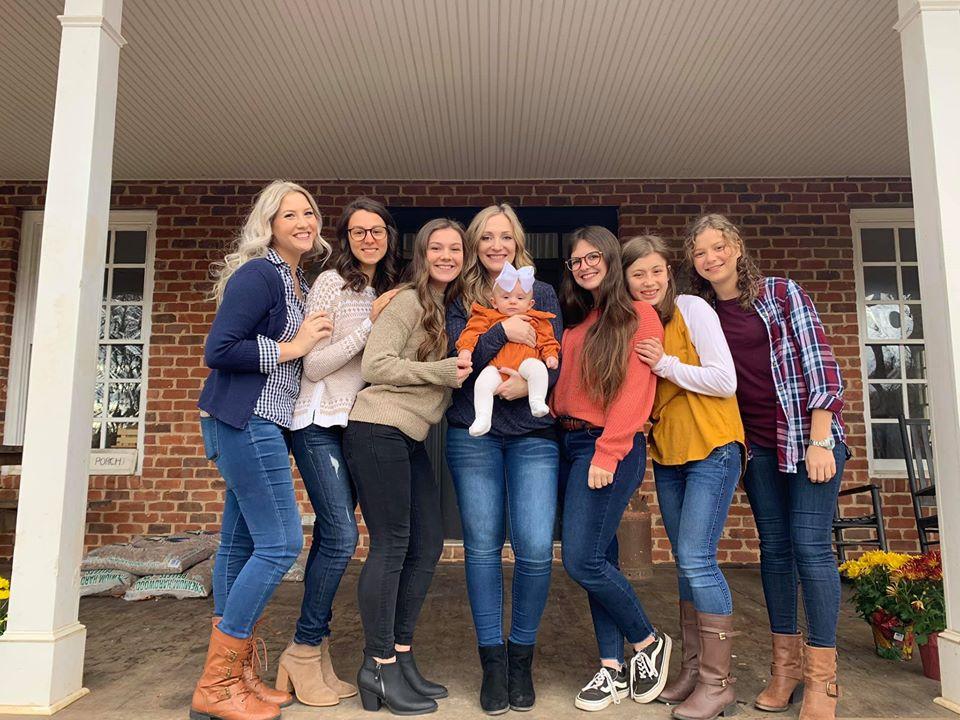Girls fall family photos