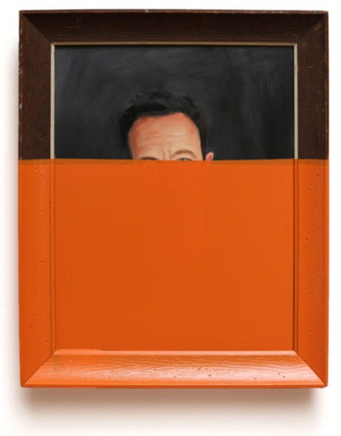 Oliver Jeffers painting dipped in color
