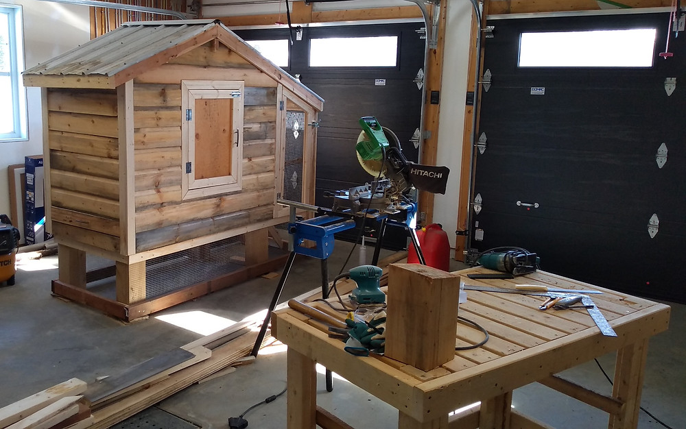 Gildas Vinet's chicken coop that he plans to put in his backyard. Photo courtesy Gildas Vinet.