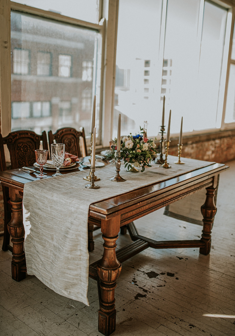 Sweetheart Table in Chicago loft