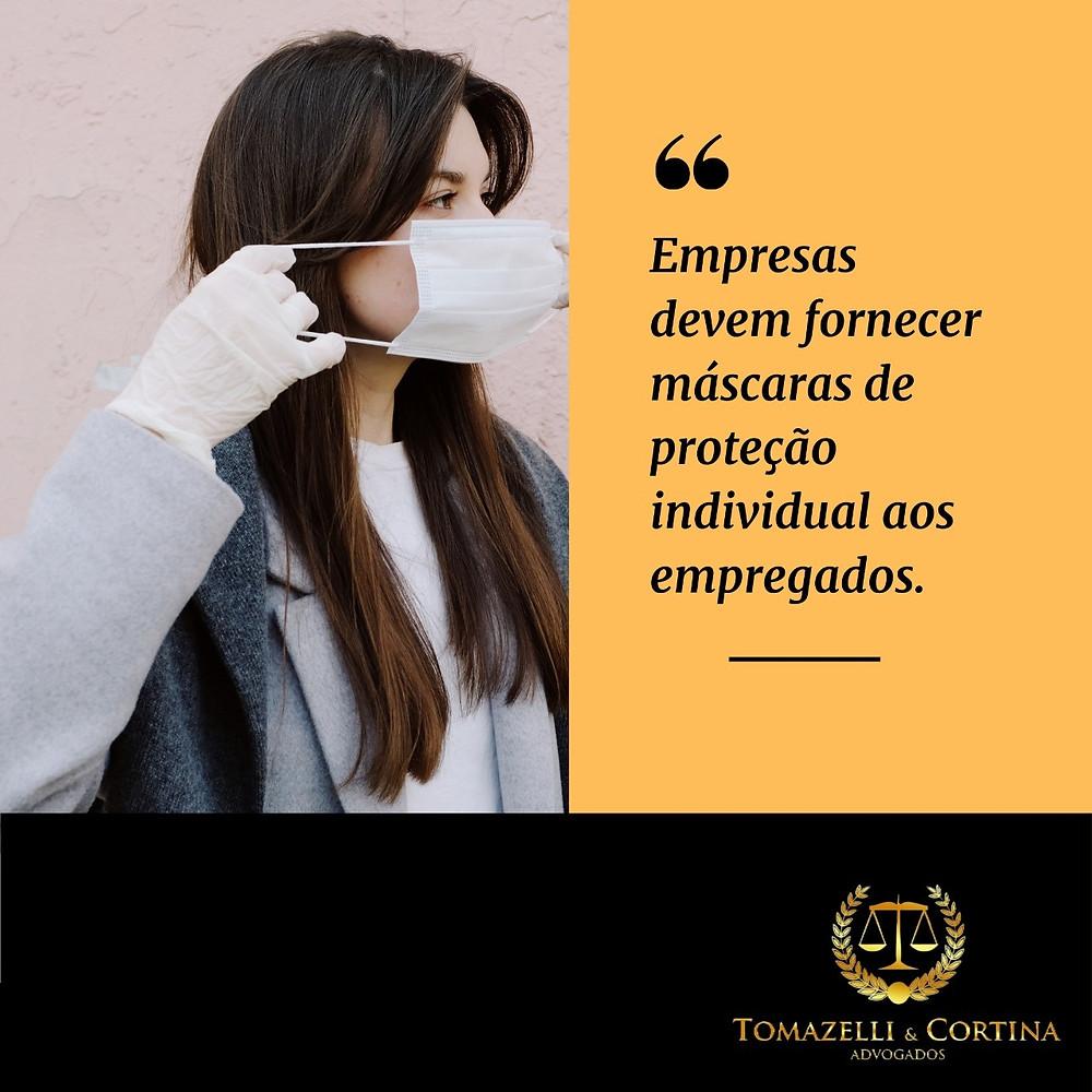 empresas devem fornecer máscaras