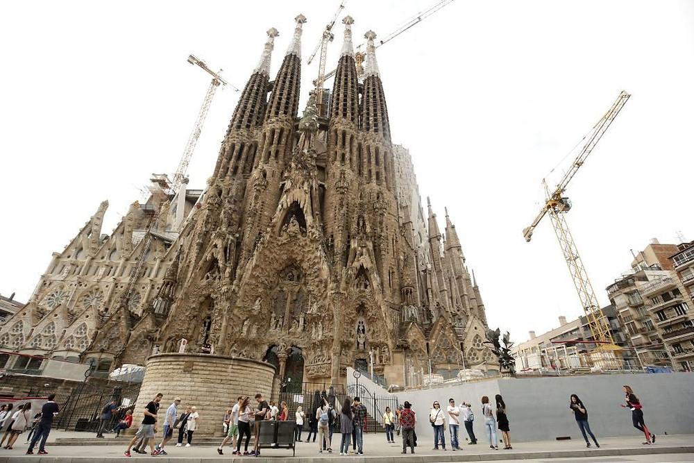 Gaudí's Sagrada Família church in Barcelona.