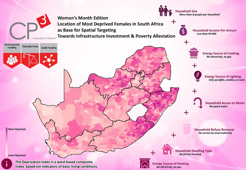 Location of Most Deprived Females in South Africa as base for spatial Targeting: Towards Infrastructure Investment and Poverty Alleviation
