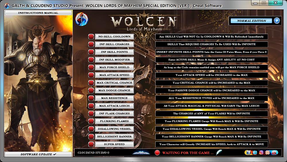 cloudend studio, Wolcen Lords Of Mayhem, Wolcen, Wlom, Wolcen Trainer, Wolcen codes, Wolcen Tricks, Wolcen Mods, Wolcen Cheats, Wolcen Cheat Engine, Garrison, Stormfall, Champion Of Stormfall, Wulcen Expeditions, Wolcen Mandate, cheats trainer, super cheats, cheats, trainer, codes, mods, tips, steam, pc, cheat engine, cheat table, save editor, free key, tool, game, dlc, 100%, fearless revolution, wemod, fling trainer, mega dev, mega trainer, rpg, achievements, cheat happens, 作弊, tricher, tricks, engaños, betrügen, trucchi, news, ps4, xbox, Youtube Game, hack, glitch, walkthrough, Stormfall Productivity,
