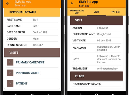EMR-lite: A Mobile Digital Medical Record for Primary Healthcare in Low- and Middle-Income Countries