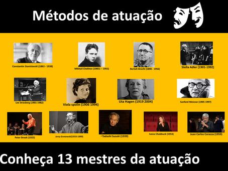 Conheça 13 mestres da atuação clássica e contemporânea.