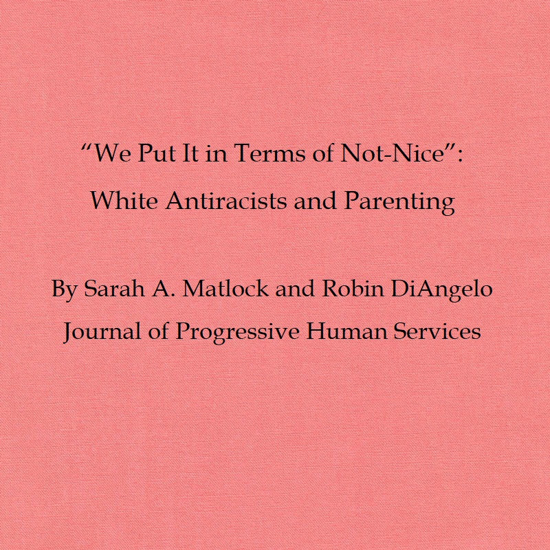 the article title and author names on a bright pink background